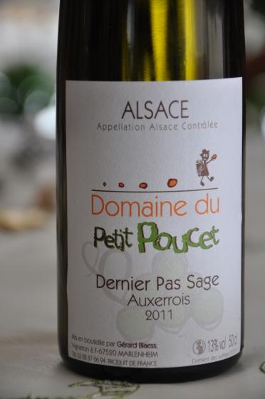 Gérard Blaes Domaine du Petit Poucet Dernier Pas Sage Auxerrois 2011