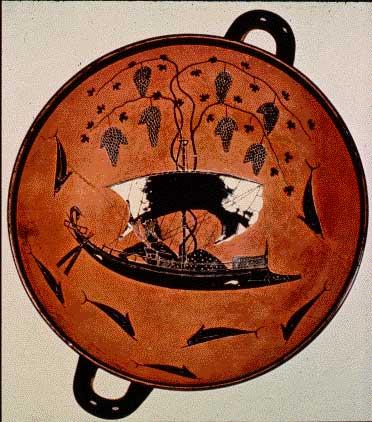 Dionysos dans son navire kylix